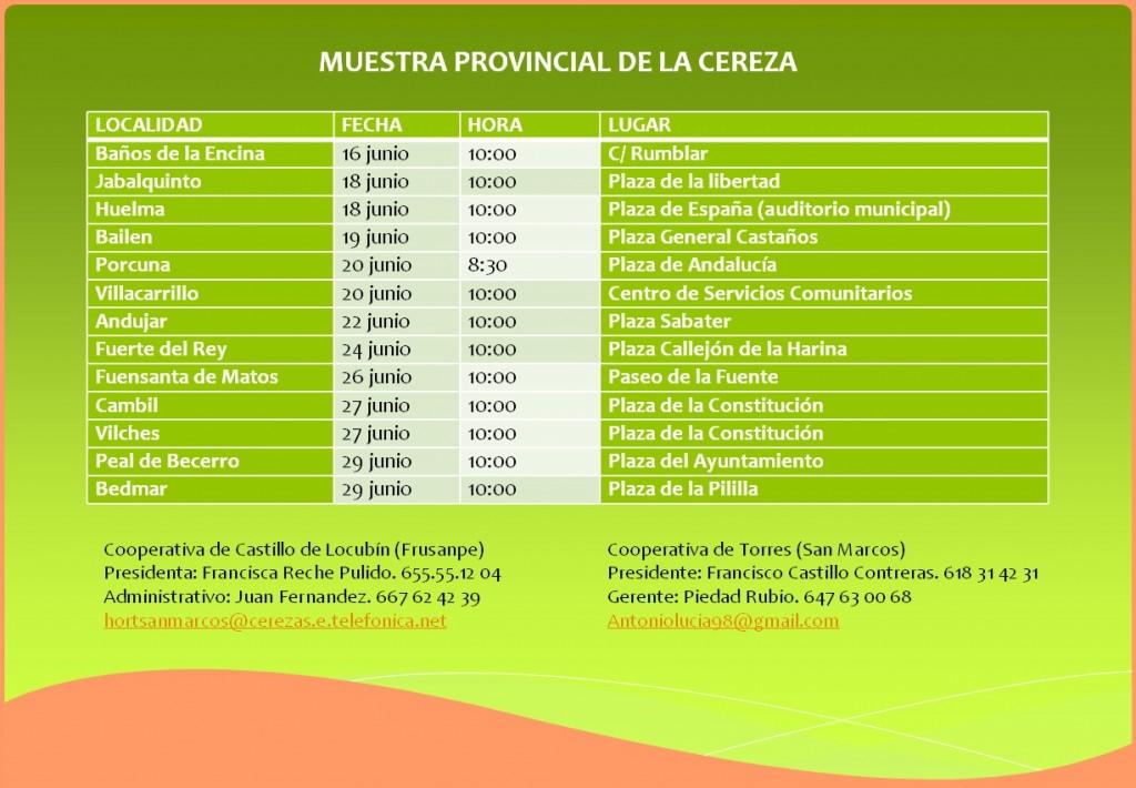 Calendario Cerezas 2