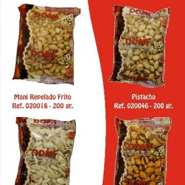 Maní-Pistacho-pipa calabaza-Maiz