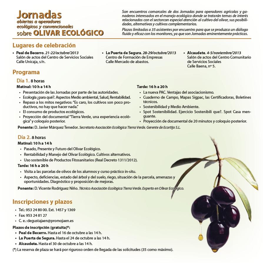 Jornadas olivar ecológico 2013