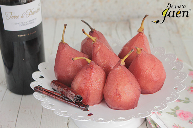 Peras al vino tinto Degusta Jaén
