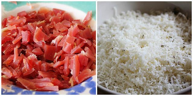 Jamon y queso magdalenas Degusta
