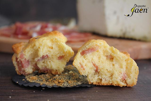 Magdalenas de jamon y queso
