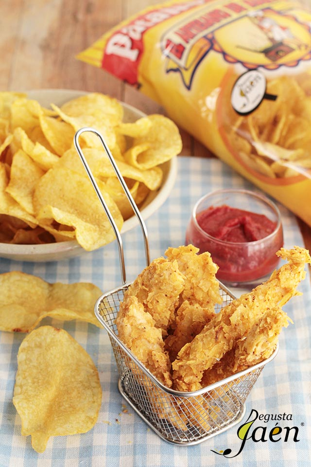 Pollo rebozado en patatas chips  (3)