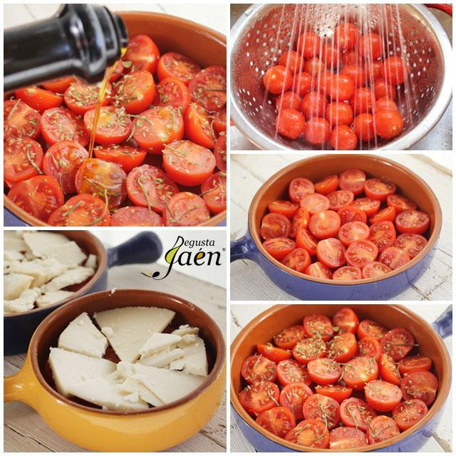 Gratinado de tomate y queso