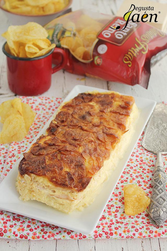 Pastel de patatas, jamón y queso