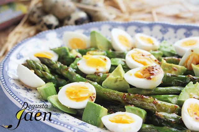 Ensalada templada Huevos de codorniz Guadalimar (6)