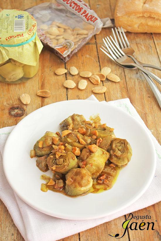Alcachofas-en-salsa-de-almedras-(1)