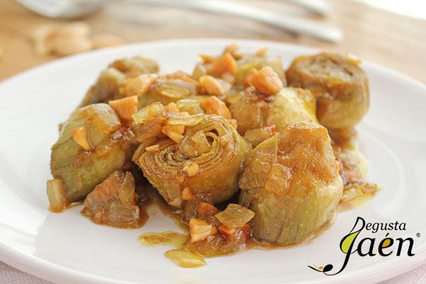 Alcachofas-en-salsa-de-almedras-(2)