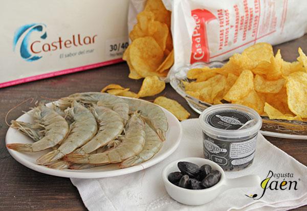 Langostinos-rebozados-Degusta-Jaén-ingredientes