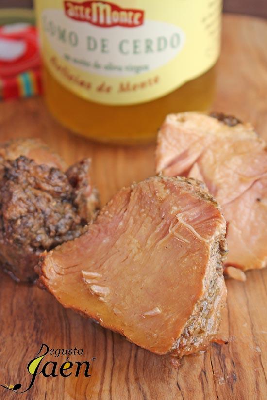 Tostas de calabaza frita y lomo de orza Degusta Jaen (3)