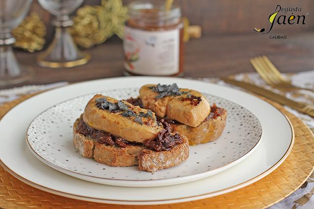 Tostas de foie con higos con chocolate Degusta Jaén (2)