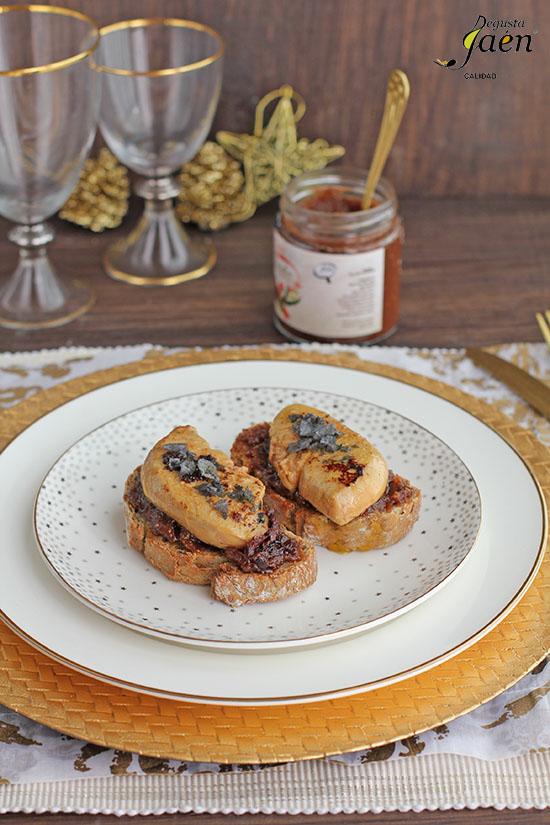 Tostas de foie con higos con chocolate Degusta Jaén (3)