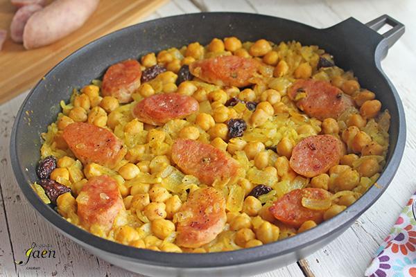 Arroz con garbanzos y butifarra al horno Degusta Jaén (5)