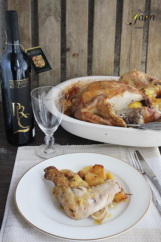 Pollo asado con cerveza Degusta Jaen
