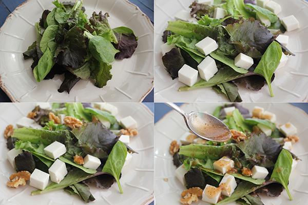 Ensalada queso y mermelada higo Degusta Jaen pasos 1