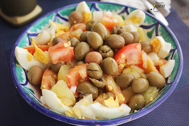 Ensalada de verano con aceitunas Degusta Jaen (4)