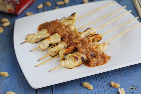 Pollo con salsa de cacahuetes Degusta Jaen (1)