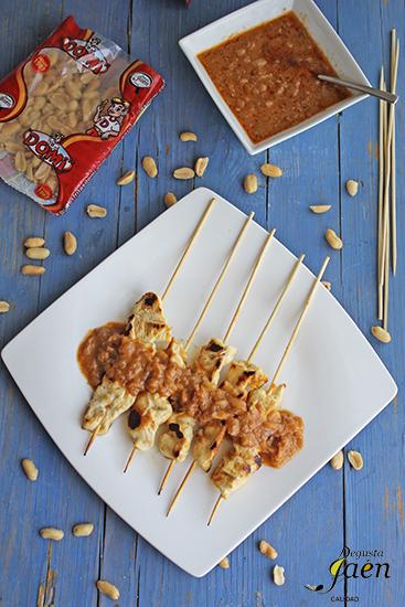 Pollo con salsa de cacahuetes Degusta Jaen (4)
