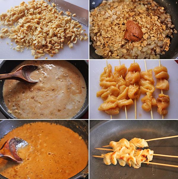 Pollo con salsa de cacahuetes Degusta Jaen PASOS