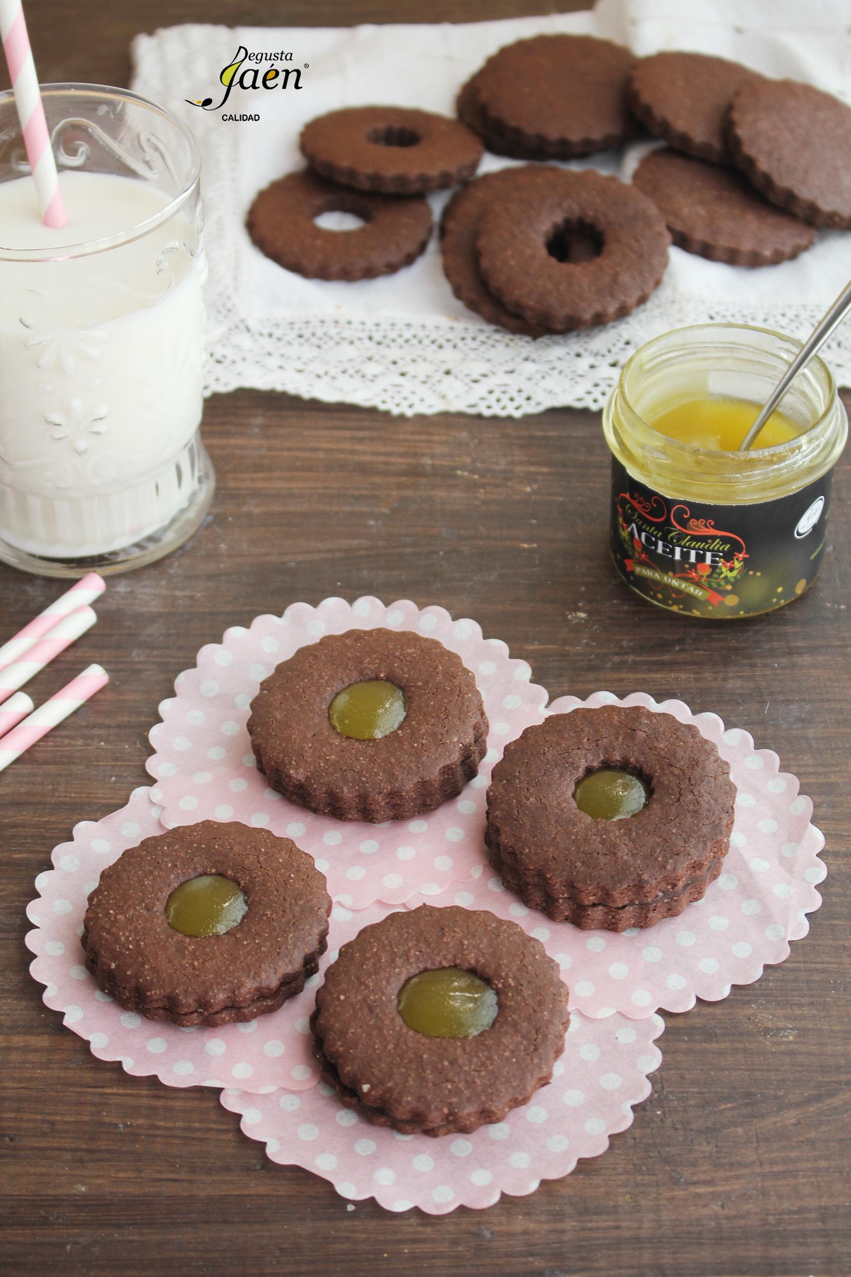 Galletas de chocolate y mermelada de aove Degusta Jaen (1)