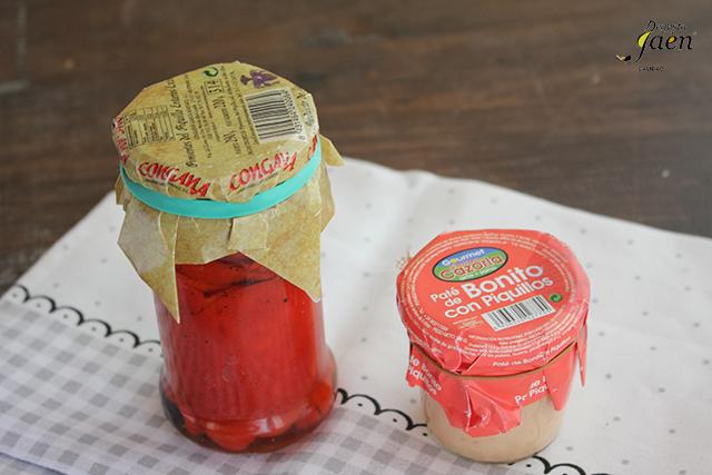 Pimientos del piquillo rellenos de pate de bonito Degusta Jaen (1)