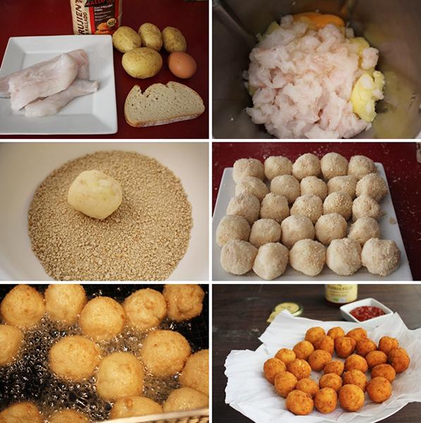 Bolitas de patata y merluza Degusta Jaen
