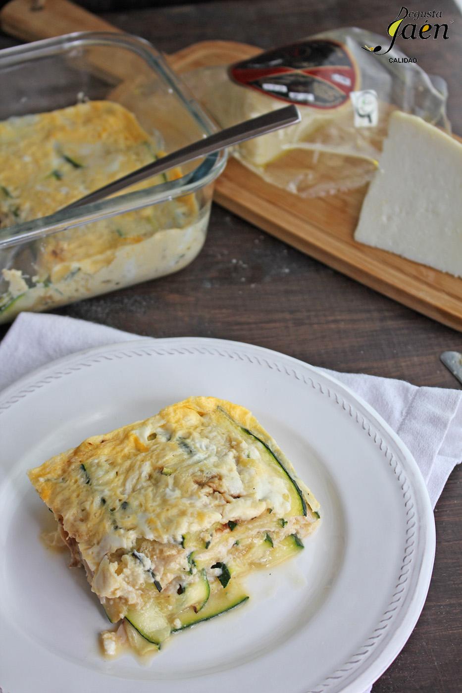 Lasaña de calabacin con pavo y queso Degusta Jaen (1)