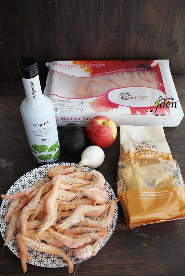 Tartar gambas Ingredientes