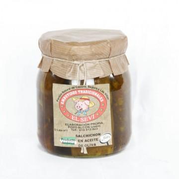 Salchichón en aceite de oliva