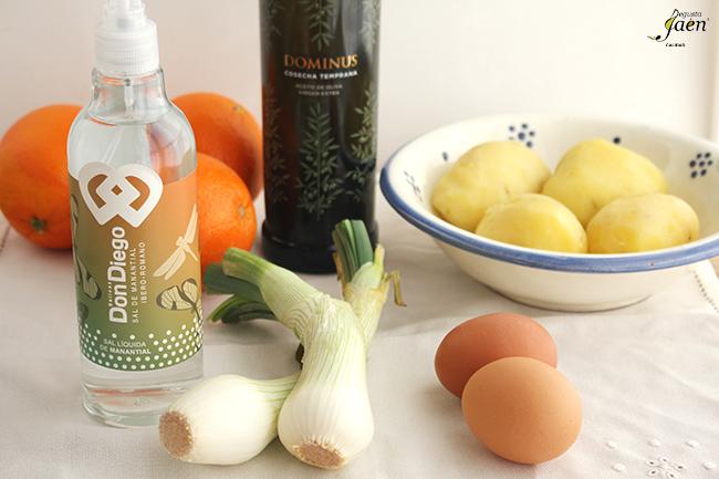 Ingredientes Ensalada naranja y patata Degusta Jaen