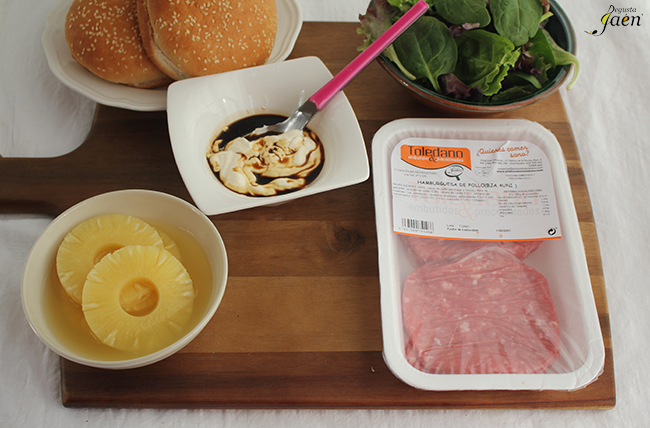 Ingredientes Hamburguesas de pollo Degusta Jaen