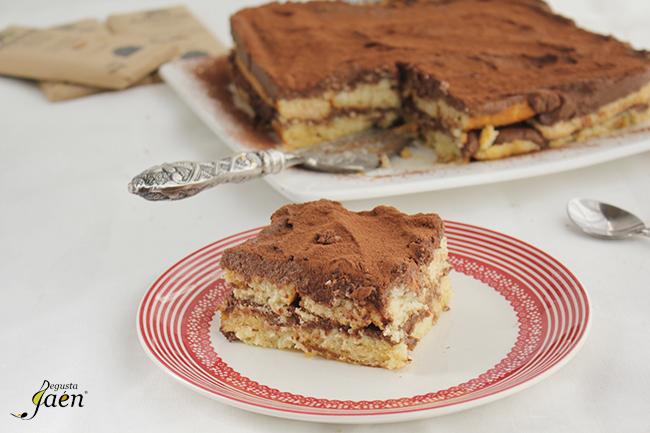 Tarta de magdalenas y chocolate Degusta Jaen