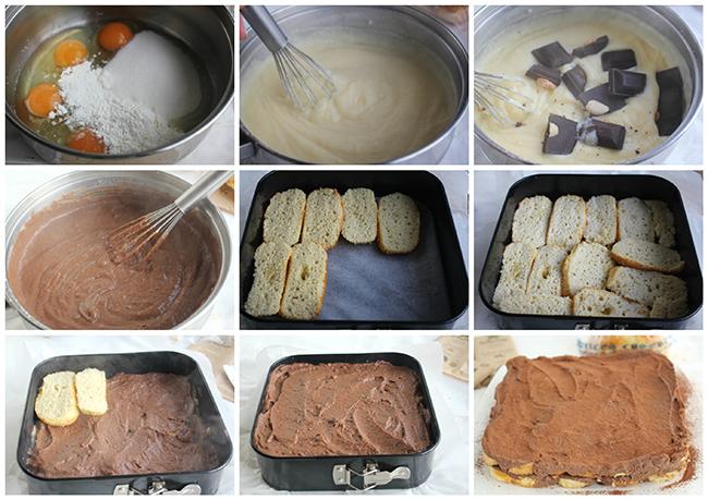 Tarta de magdalenas y chocolate pasos Degusta Jaen