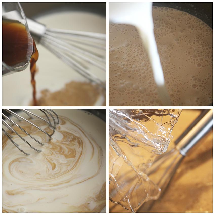 Crema de café pasos