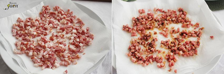Degusta Jaen Ensalada Bacon pasos