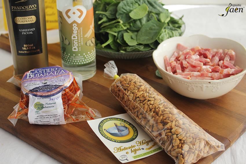 Ingredientes Ensalada de espinacas Degusta Jaen