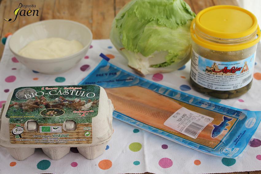 Ingredientes Huevos rellenos trucha pepinillos Degusta Jaen