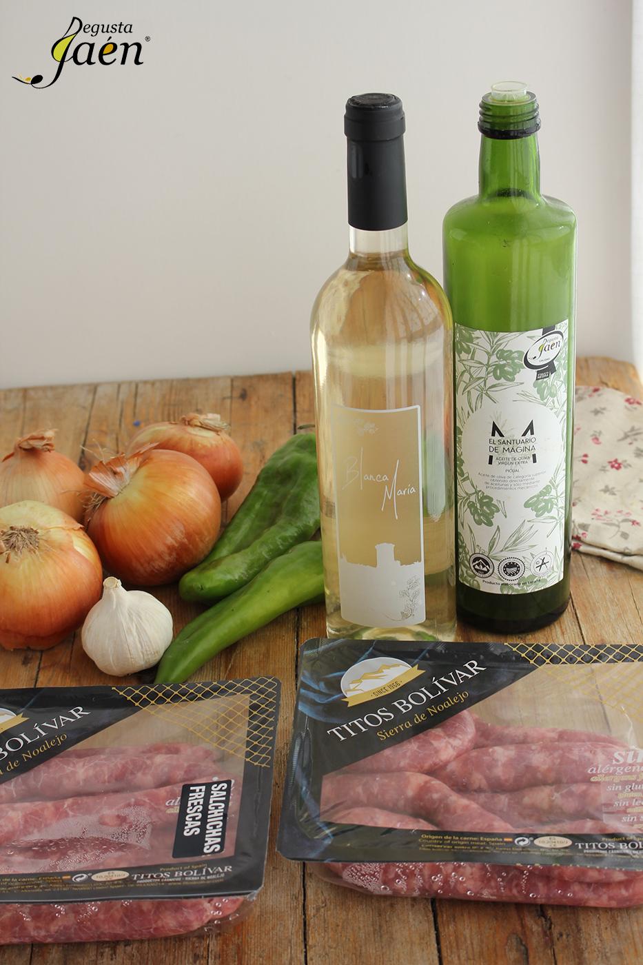 Ingredientes Salchichas vino blanco Degusta Jaen