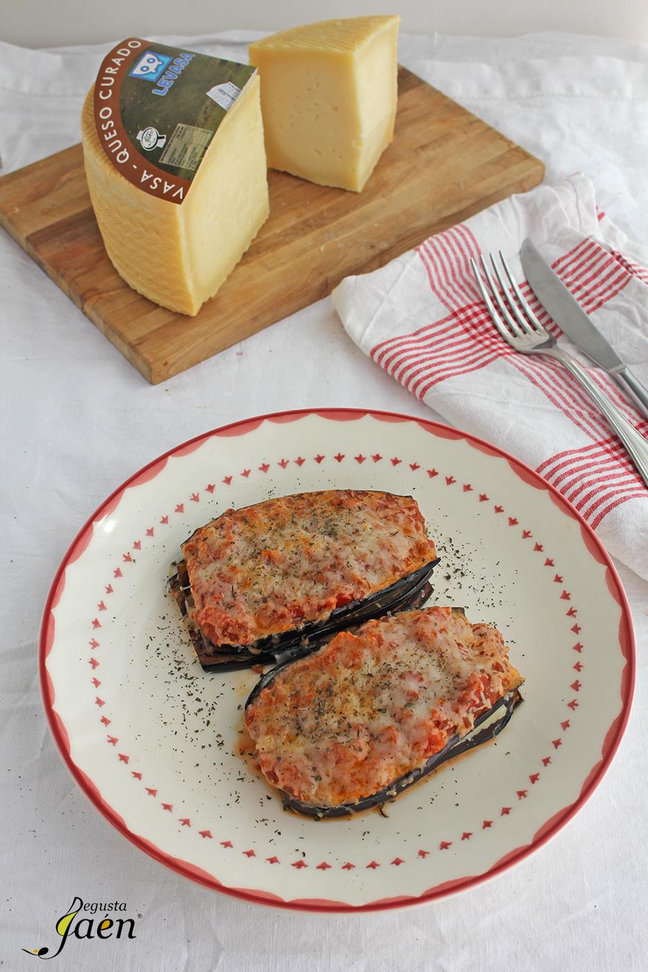 Milhojas de berenjenas y queso Degusta Jaen (2)