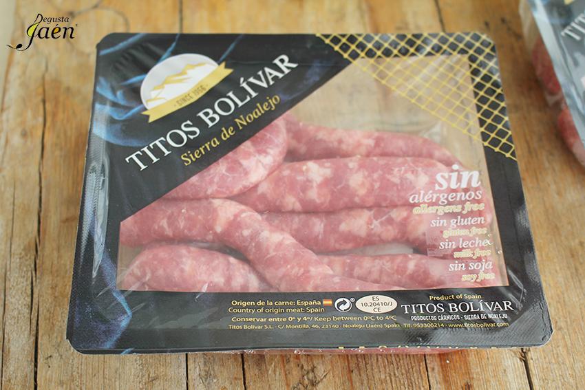 Salchichas frescas Titos Bolivas Degusta Jaen