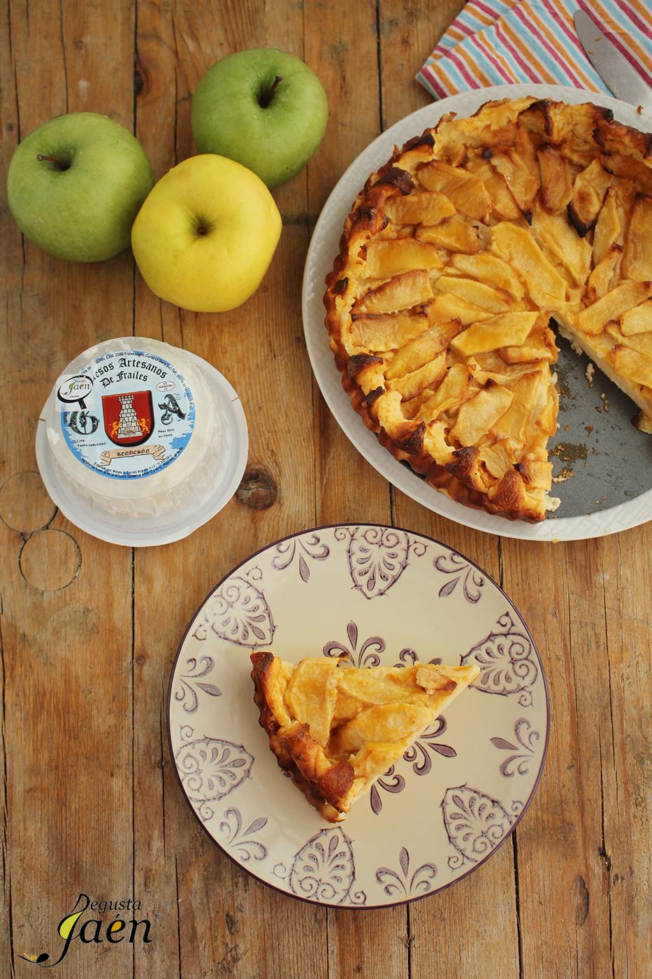Tarta Requeson y manzanas Degusta Jaen (3)