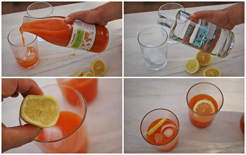 Cóctel de zanahoria y ginebra Degusta Jaén