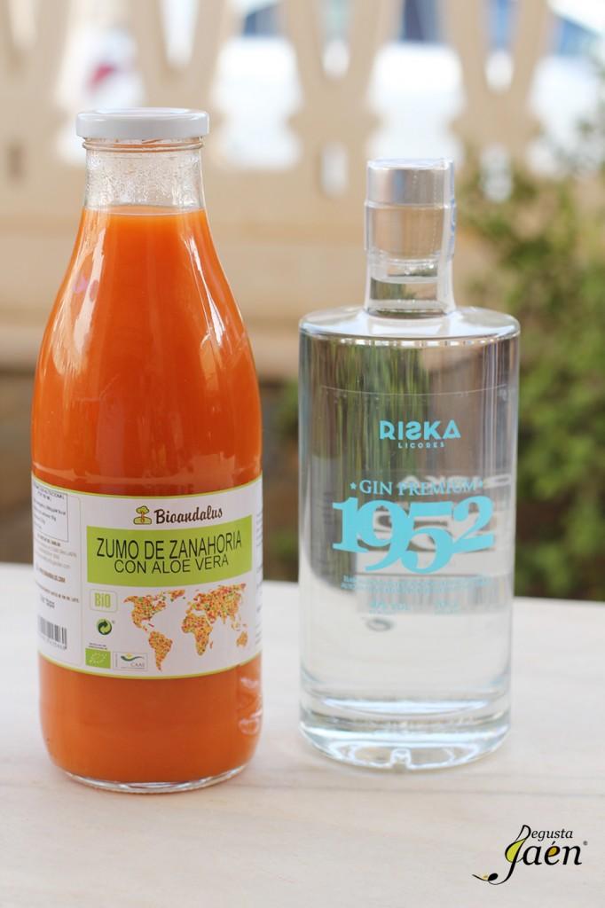Cóctel de zumo de zanahoria y ginebra Degusta Jaén (2)