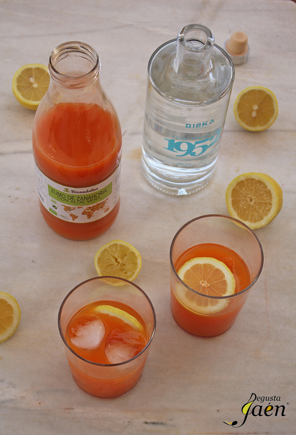 Cóctel de zumo de zanahoria y ginebra Degusta Jaén (3)