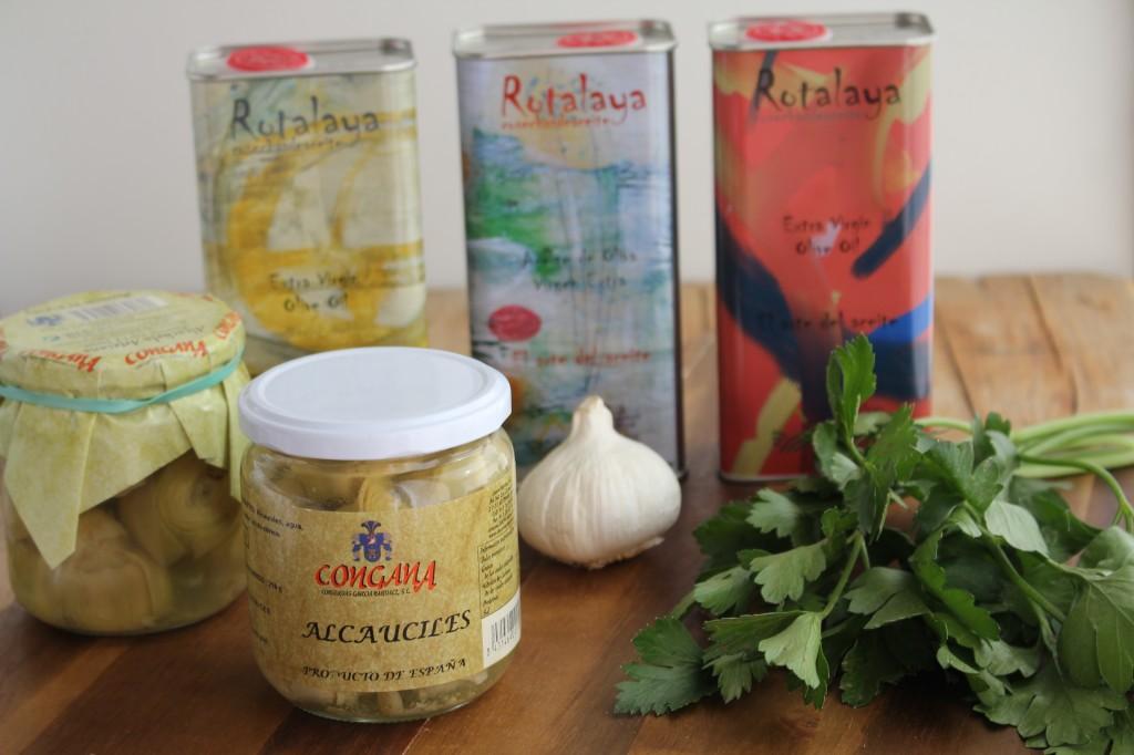 Ingredientes Alcauciles con ajo y aove Degusta Jaen