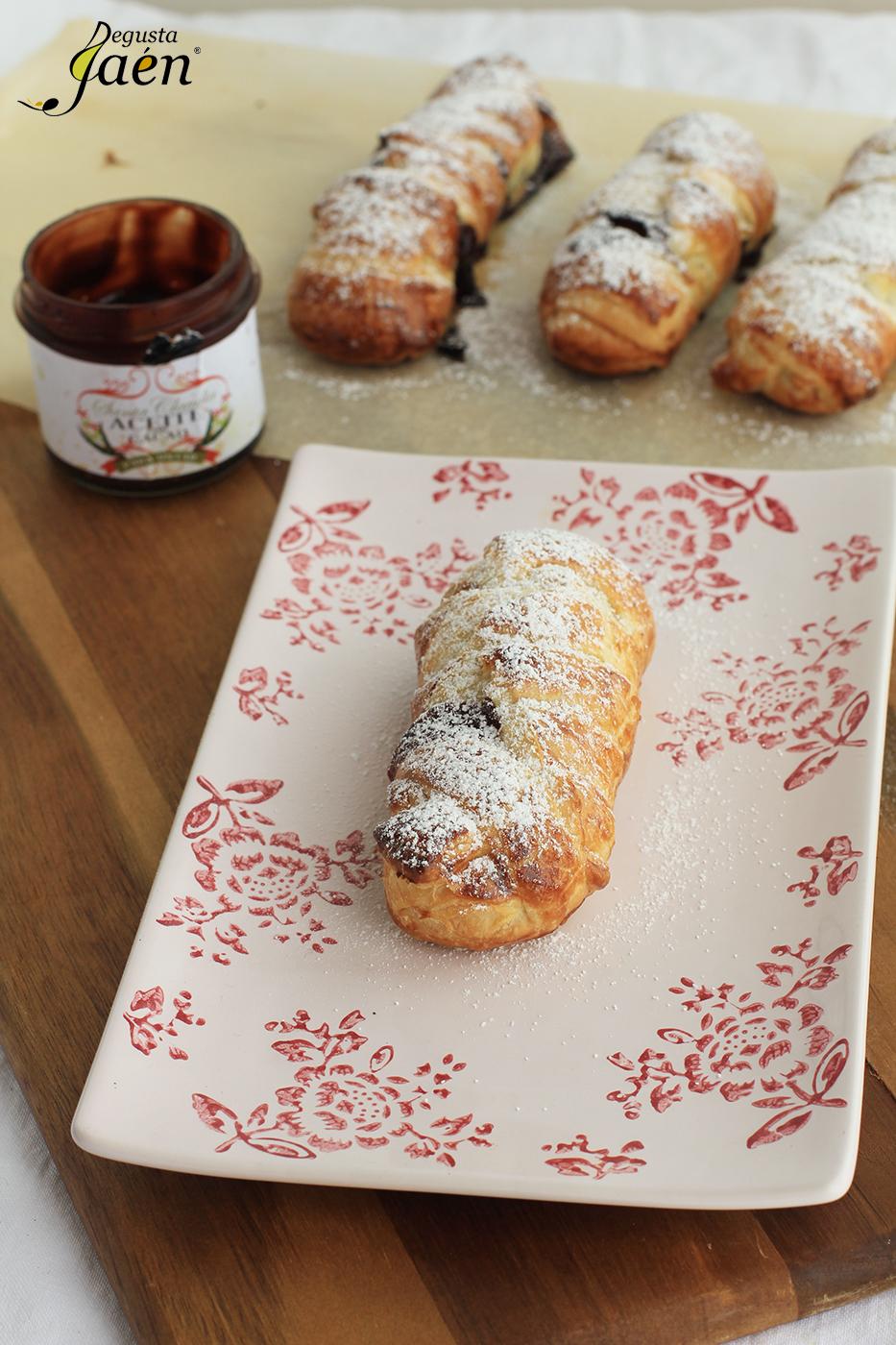 Trenza de hojaldre y crema de cacao con aove Degusta Jaen (2)