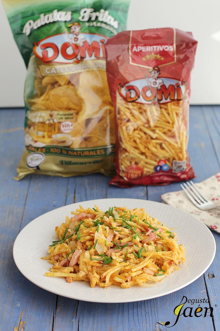 Revuelto patatas paja y bacon Degusta Jaen (2)