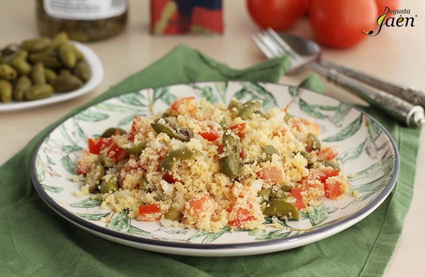 Ensalada de cous cous con aceitunas cornezuelo Degusta Jaen (1)