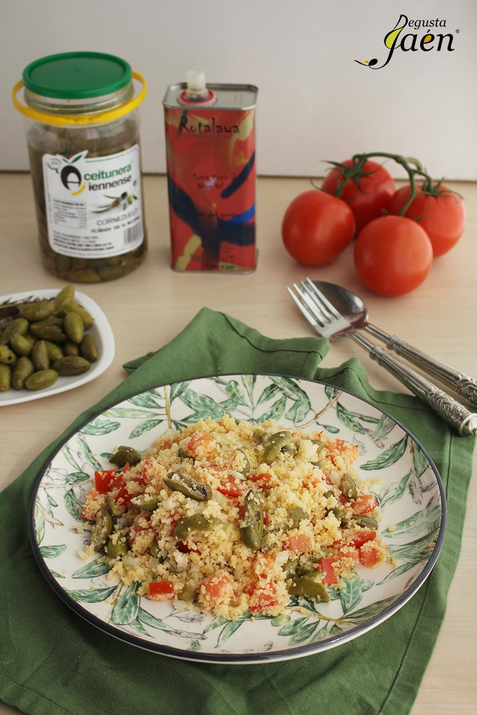 Ensalada de cous cous con aceitunas cornezuelo Degusta Jaen (2)