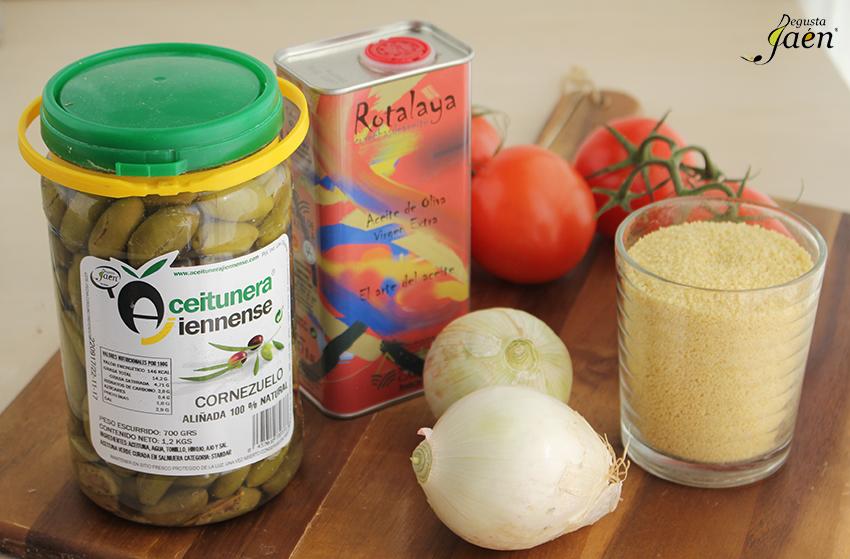 Ingredientes Ensalada couscous y aceitunas Degusta Jaen